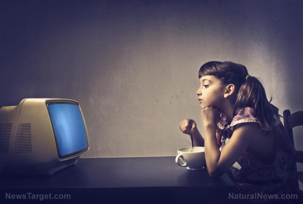 Entertained and sedentary: Children have a higher risk of becoming OBESE if they have a TV in their bedroom