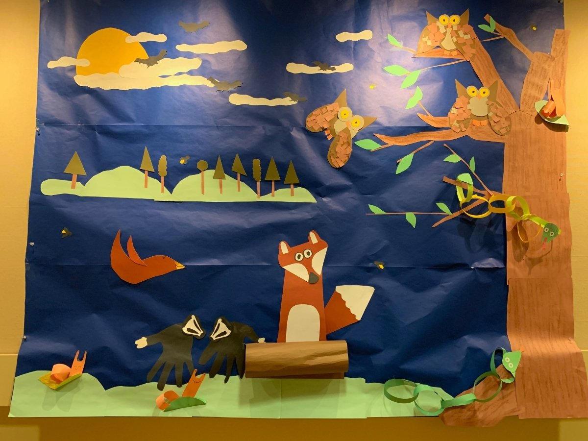 "Eden School Mural""Wild Night"" @DRGreenway's Olivia Rainbow Galler"